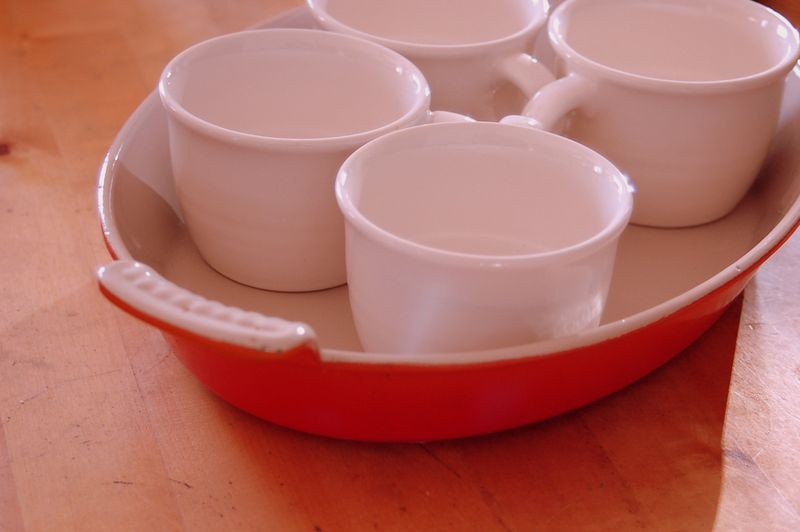 Cups and platter