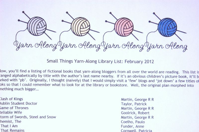Small things library list february 2012