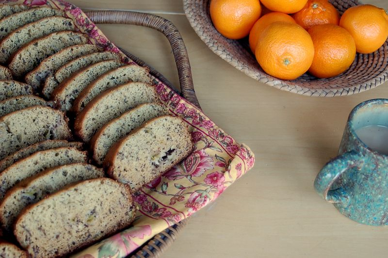 Banana bread and clementines